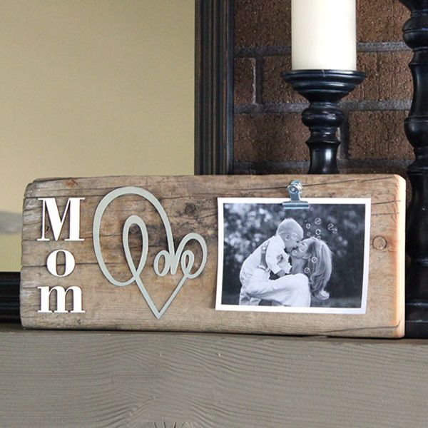 Reclaimed Wood Gift For Mom With Images Photo On Wood Diy