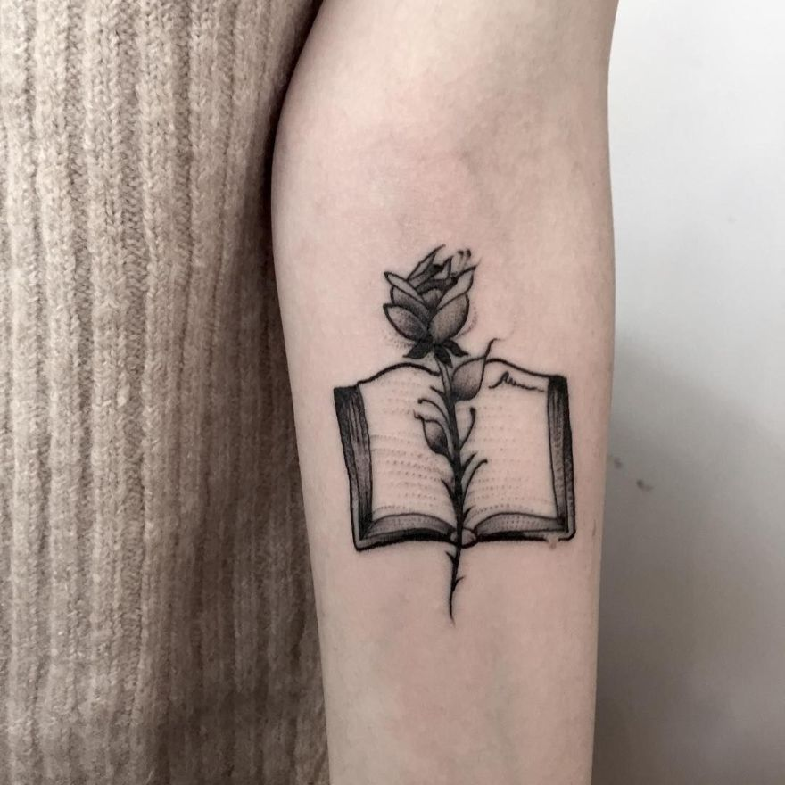 Image result for bookish tattoos