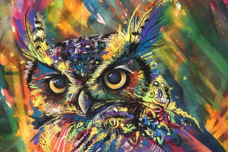 wood Art Drawing Mixed Media is part of Abstract owl painting - Welcome to Office Furniture, in this moment I'm going to teach you about wood Art Drawing Mixed Media