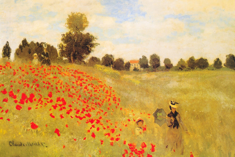 Wild Poppies, Near Argenteuil, 1873 Art Print by Claude Monet ...