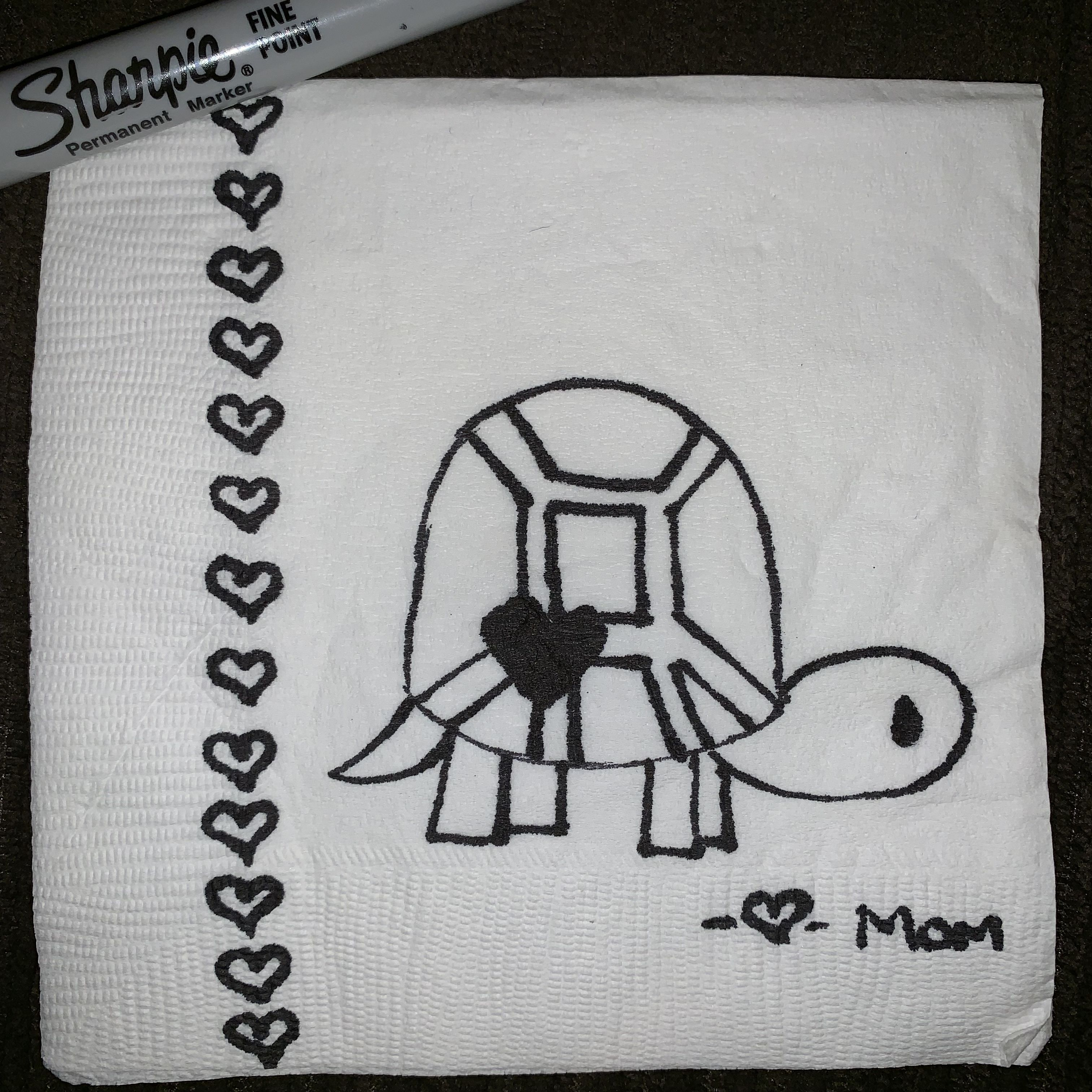 Turtle Love Lunch Note