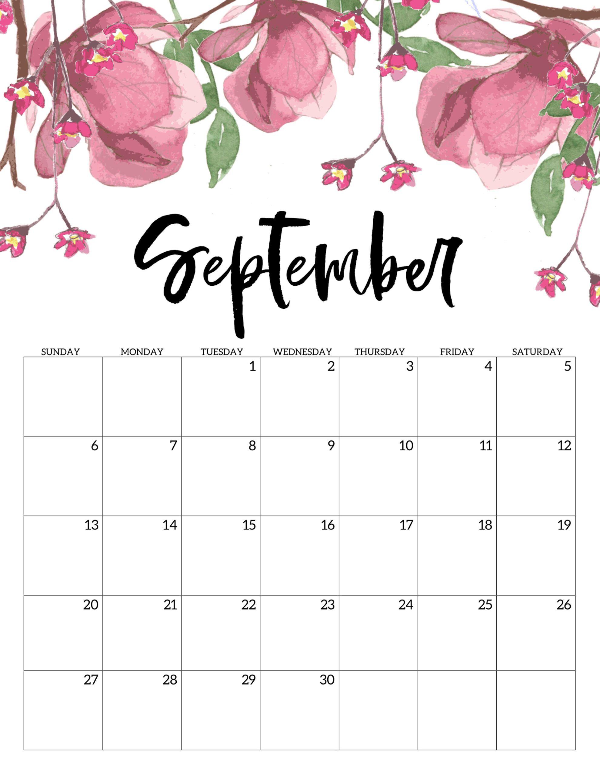 Cute September 2020 Desk Calendar In 2020 Kalender Zum