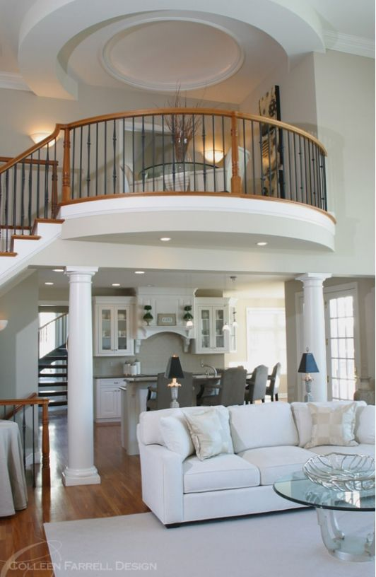 Gorgeous balcony over looking the living room lovely - Pictures of living room designs ...