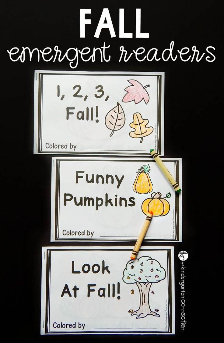 Easy prep printable fall emergent readers fall activities