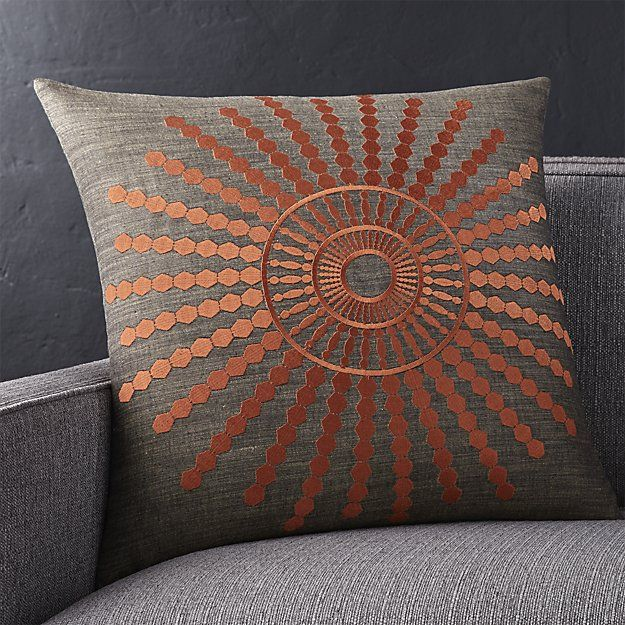 Doucette Rust 20 Pillow With Down Alternative Insert Rust Throw
