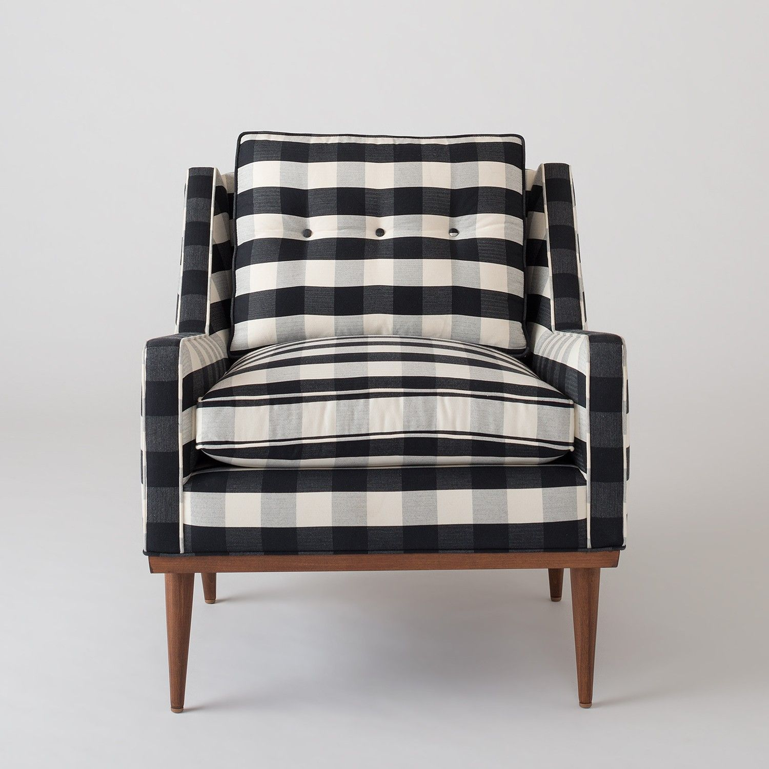 Gingham Dining Room Chair Covers Folding With Umbrella Holder Jack Windowpane Plaid Interior Pinterest