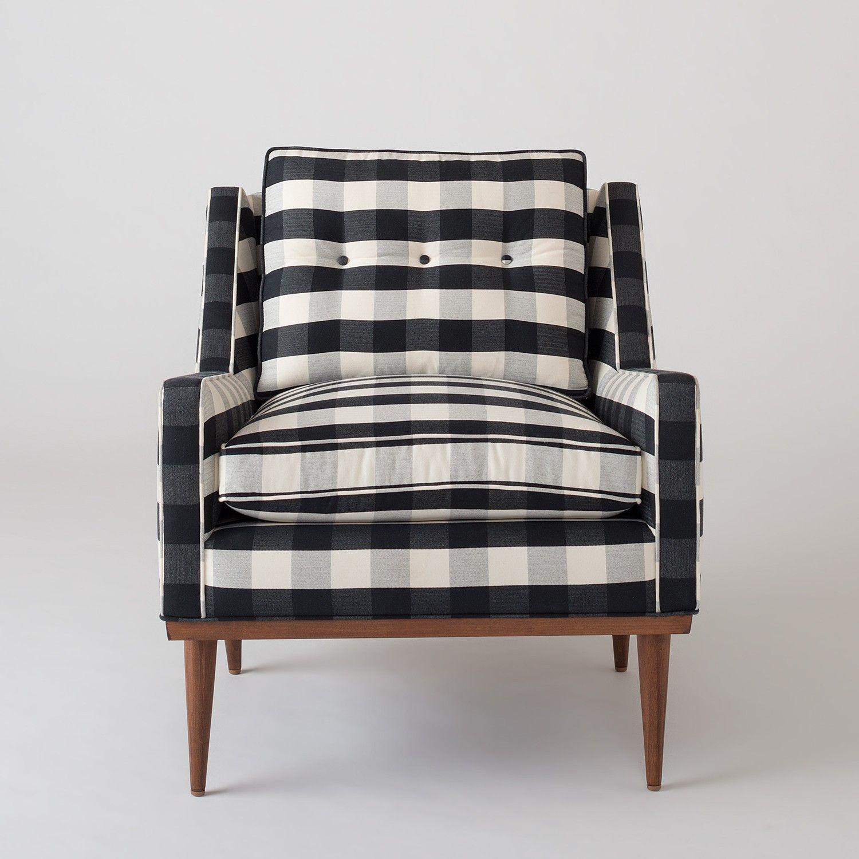 Jack Chair Windowpane Plaid