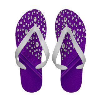 4114d718886f6 Purple Flip Flops with Rhinestones