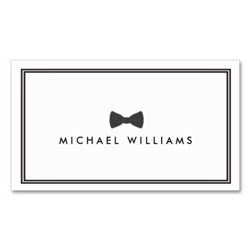 Men S Classic Bow Tie Logo Black And White Business Card Zazzle Com Business Card Template Word Create Business Cards White Business Card