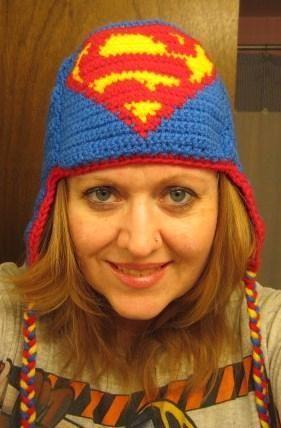 Free Crochet Superman Earflap Hat Pattern. | Crochet super hero hats ...