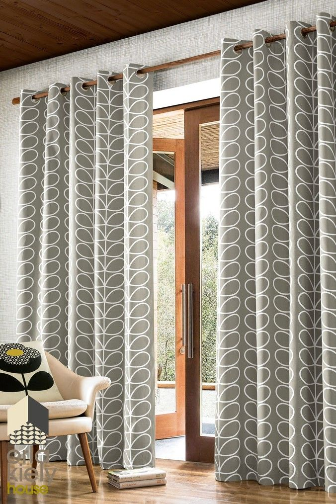 Buy Orla Kiely Exclusive To Next Linear Stem Geo Eyelet Curtains from the Next UK online shop