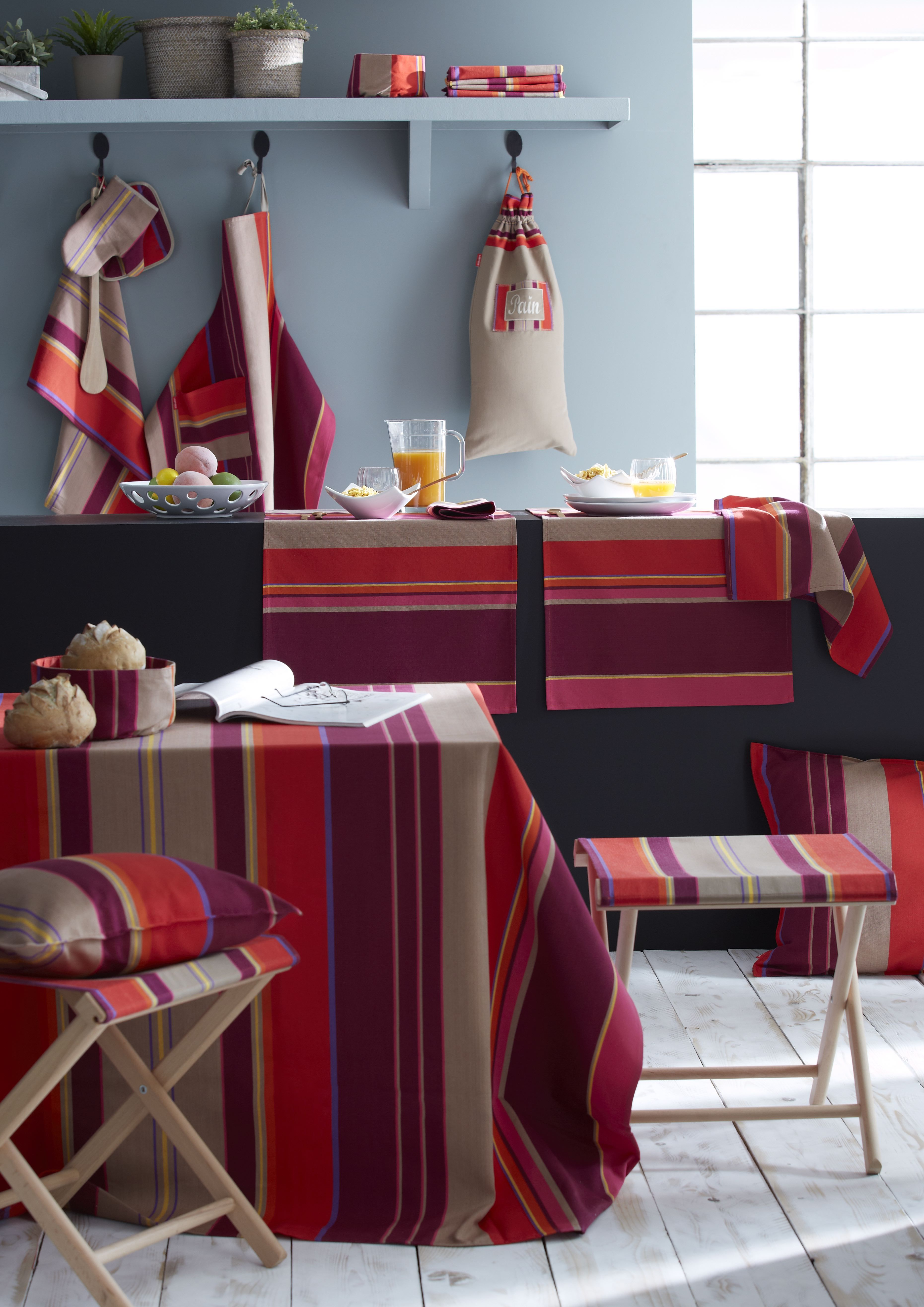 Toile ONEKA ! Linge basque - décoration cuisine  Linge basque