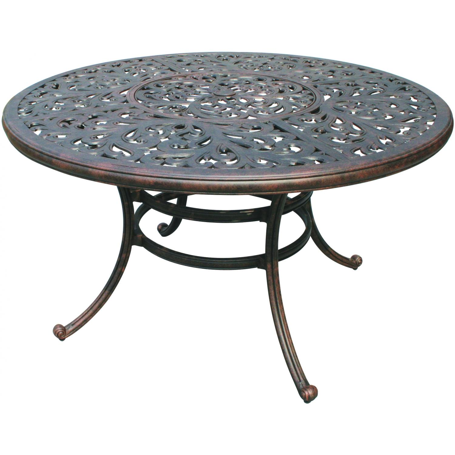 Darlee Series 80 52 Inch Cast Aluminum Patio Dining Table