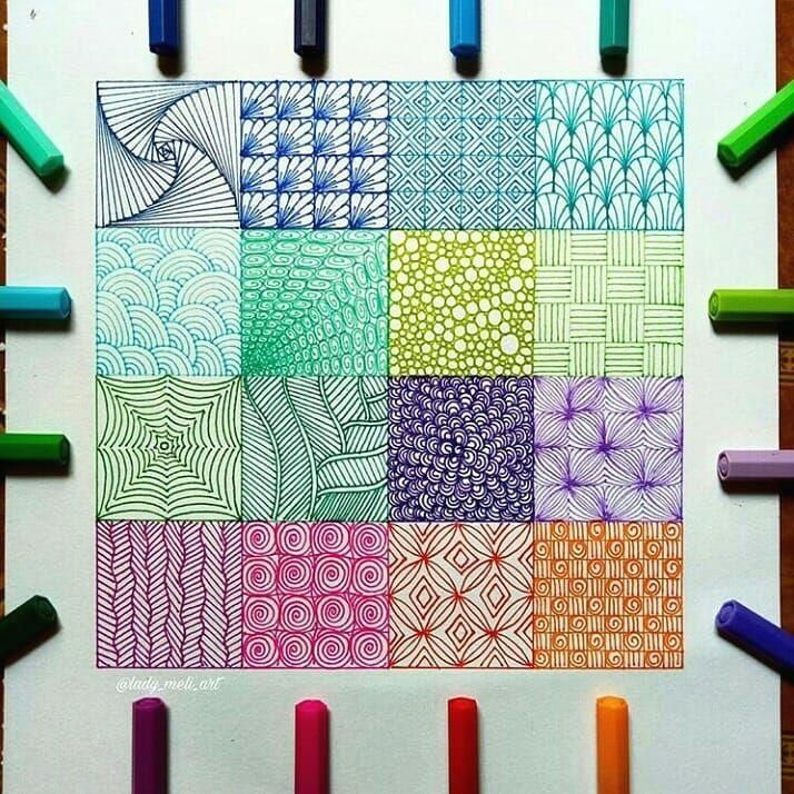Square Drawings By Me Which One Is The Best Please Tell Me Doodleart Doodle Patterns Square Drawing Zentangle Patterns
