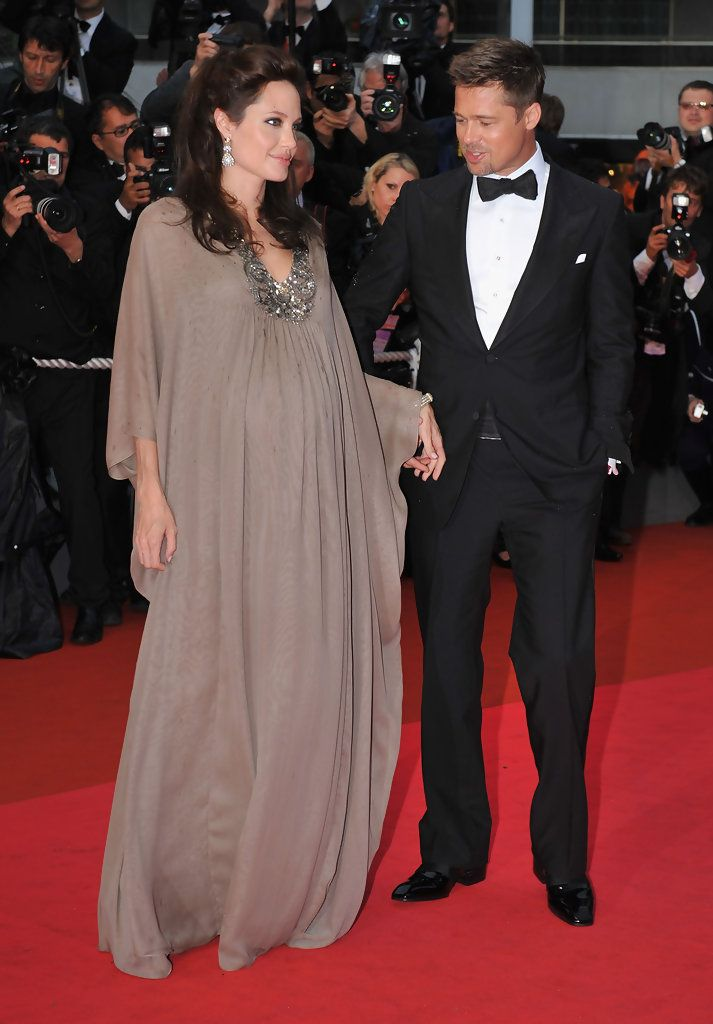 a88d94ecfe8 Know they are done BUT what a couple they WERE Angelina Jolie Maternity  Dress