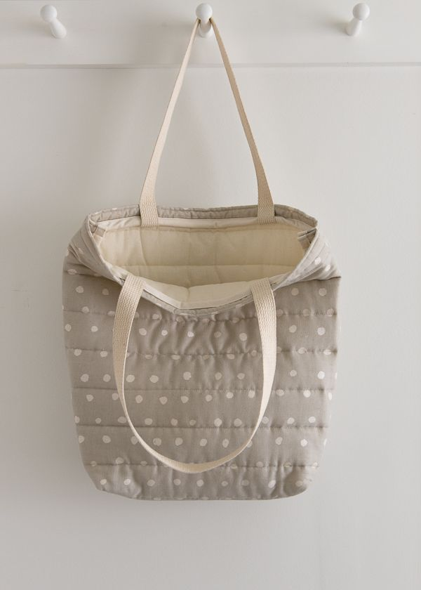 4af20e66c2f Puffy Tote in Nani Iro's Quilted Double Gauze | Purl Soho-Sewing ...