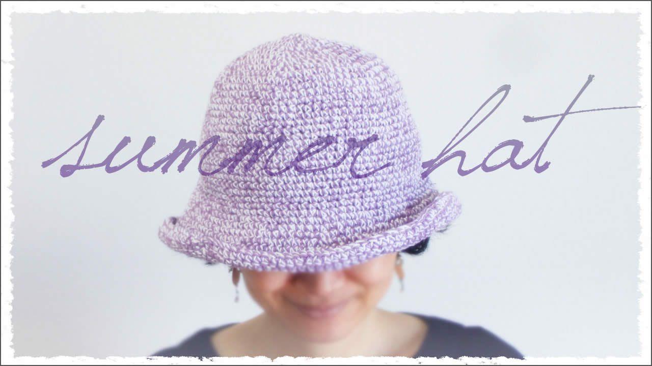 春夏帽子【100均糸で】の編み方♪折りたためる!の作り方|帽子 ...