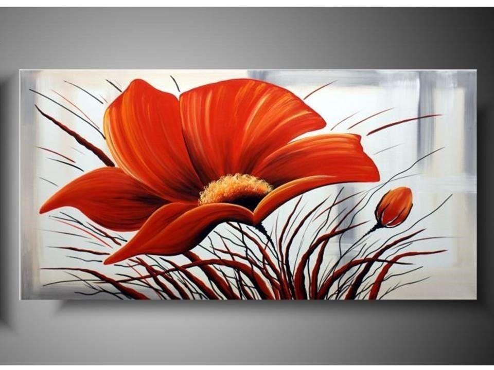 Cuadros De Flores Pintados Al Oleo Modernos