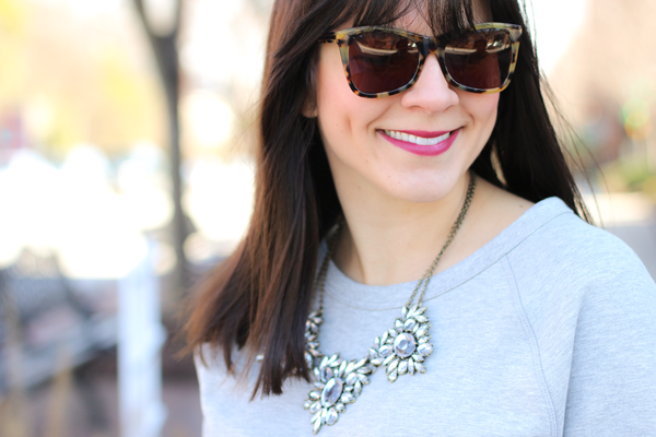 My favorite statement necklace from @BaubleBar on the blog today. Lipstick   @NARS Cosmetics in Luxembourg matte