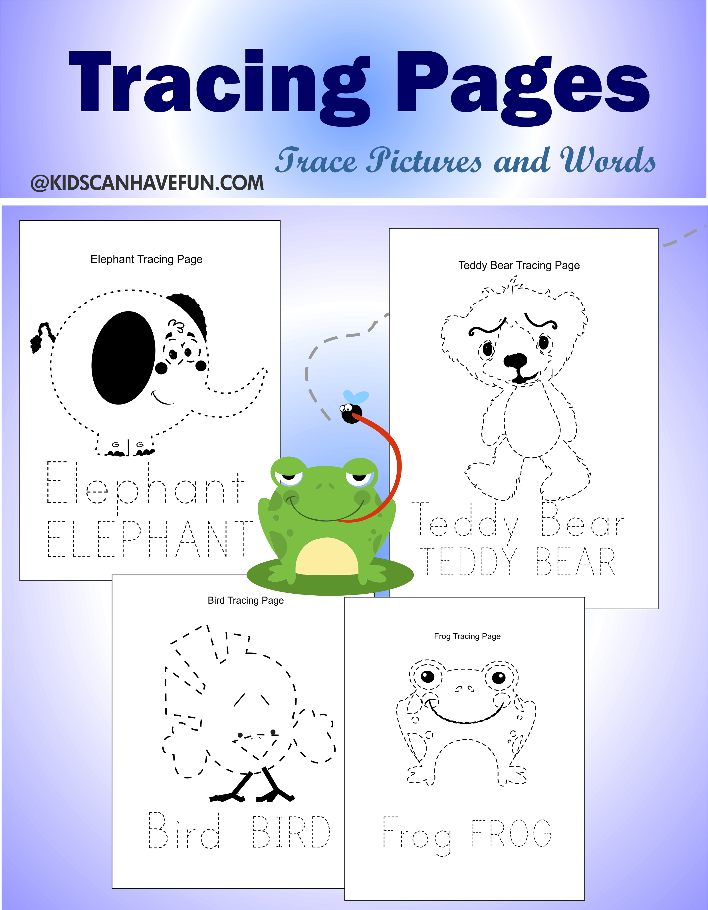 Tracing Pages For Kids Dscanhavefun