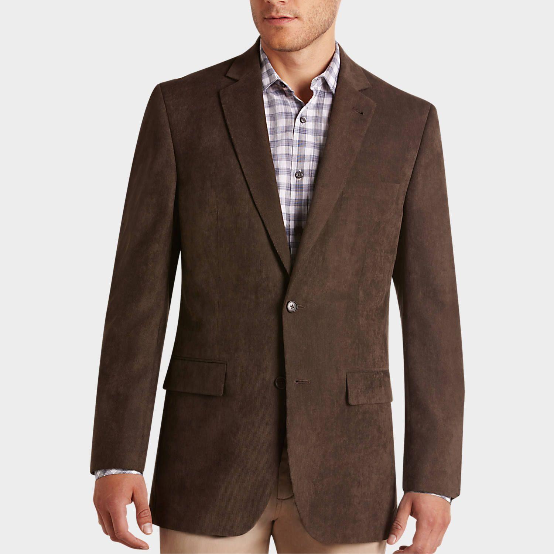 Jones New York Brown Corduroy Modern Fit Sport Coat