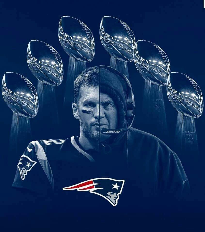 This Is A Cool Photo Of The Two G O A Ts On The Patriots Tom Brady And Bill Belichick The Back England Patriots Nfl New England Patriots New England Patriots