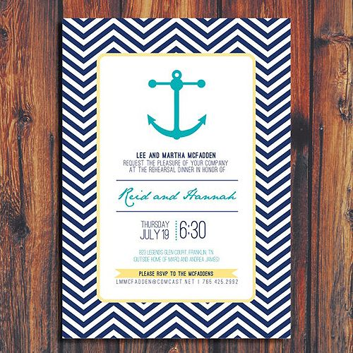 Nautical Invitation By Conteurco On Etsy