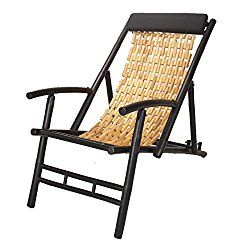 Homeroots Furniture Hilo Bamboo Folding Sling Chair