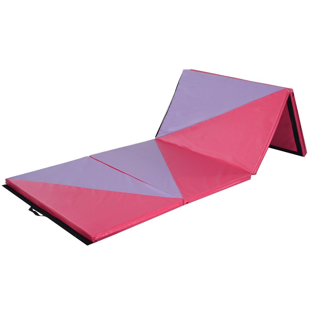 product costway folding gym mat mats fitness costwat panel gymnastics thick shop rakuten pu pink