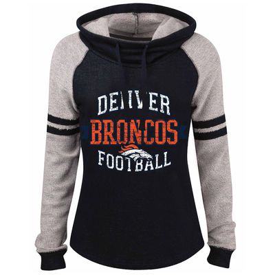 53becb5f1bf Denver Broncos 5th   Ocean by New Era Women s Long Loop French Terry Cowl  Neck Pullover Hoodie - Navy