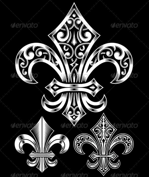 Ornate Fleur De Lis Vector Set #GraphicRiver fully editable vector illustration (editable EPS) of ornate fleur de lis symbol on isolated black background, image suitable for design elements, emblem, insignia, coat of arms, tattoo or logo, package contains : JPG image 3600×5000 pixels and layered EPS vector file Created: 28August13 GraphicsFilesIncluded: JPGImage #VectorEPS Layered: Yes MinimumAdobeCSVersion: CS Tags: antique #badge #classic #classical #coatofarms #decoration #decorative…