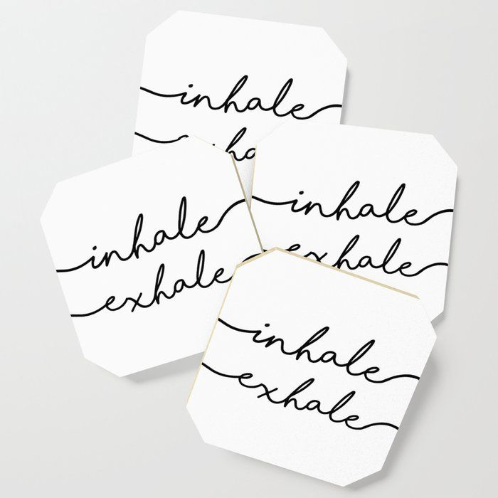 Printable Art,inhale Exhale,fitness Poster,workout Print,gym Decor,motivational Print,inspirational Drink Coaster by Typohouse - Set of 4