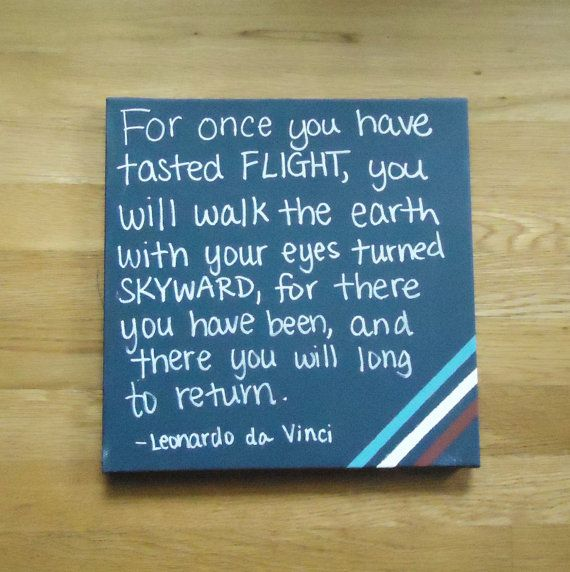 Flying Quotes: This Flying Quote Painted On Canvas Is Perfect For The