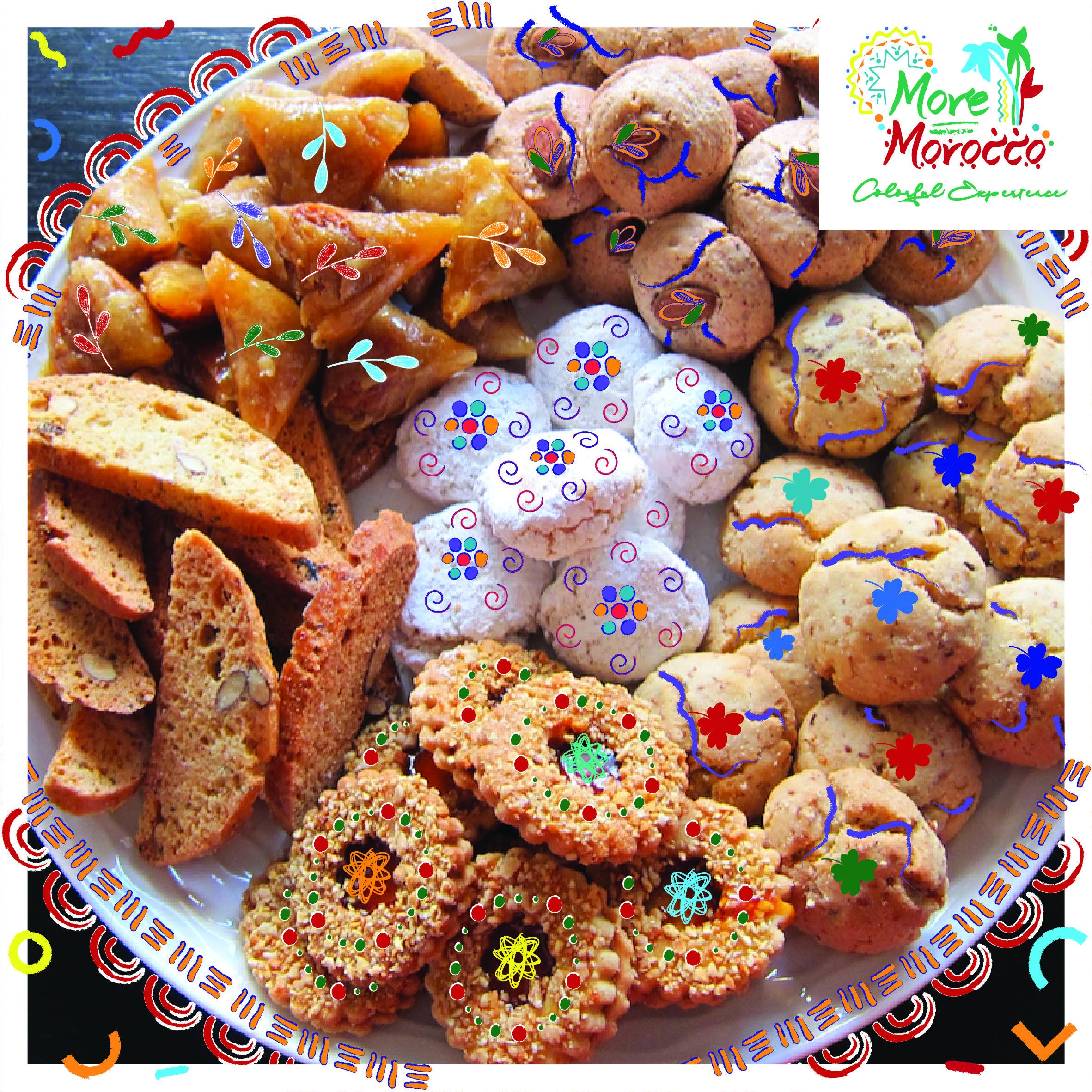 مع اقتراب نهاية شهر رمضان يحتفل المغاربة بعيد الفطر بمجموعة من الحلويات التقليدية مثل بريوات باللوز فقاس كعب الغزال وغريبة As Ramada Food Desserts Cookies