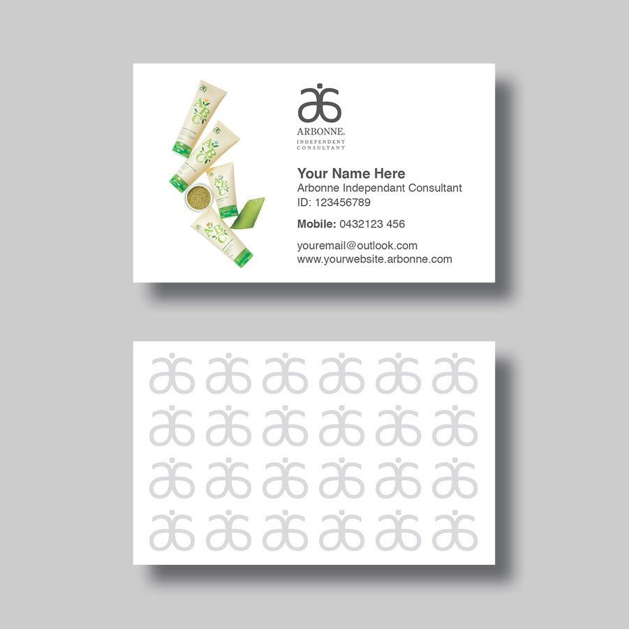 Arbonne Business Card (ABC) - Digital Design by BellGraphicDesigns ...