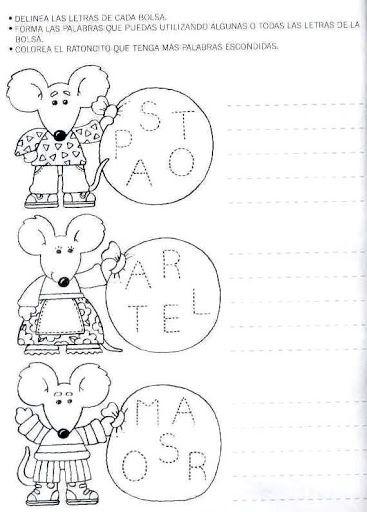 actividades para preescolar | Páginas para colorear | Pinterest ...
