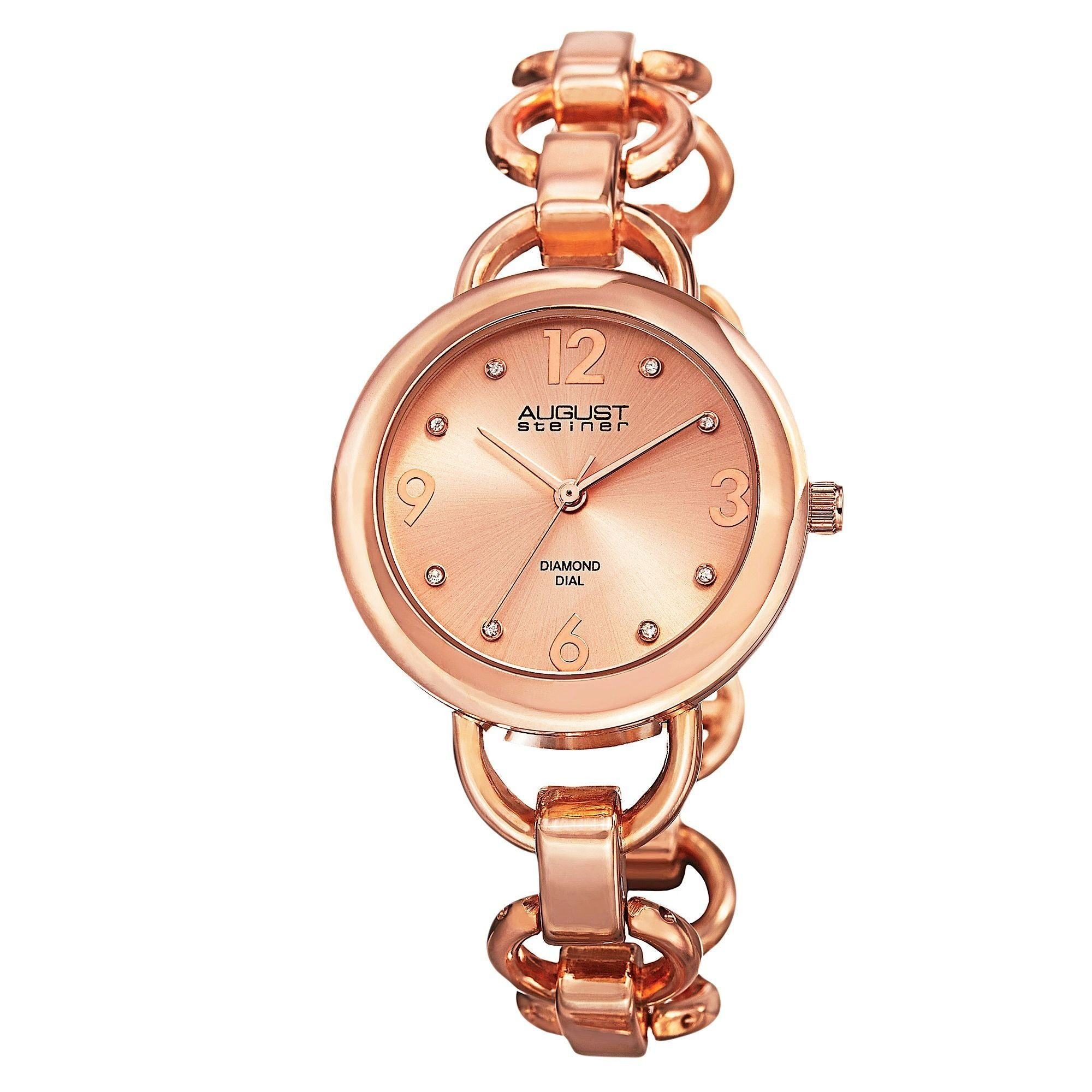 em link watches premiere full gold watch luxe chain products chanel plated