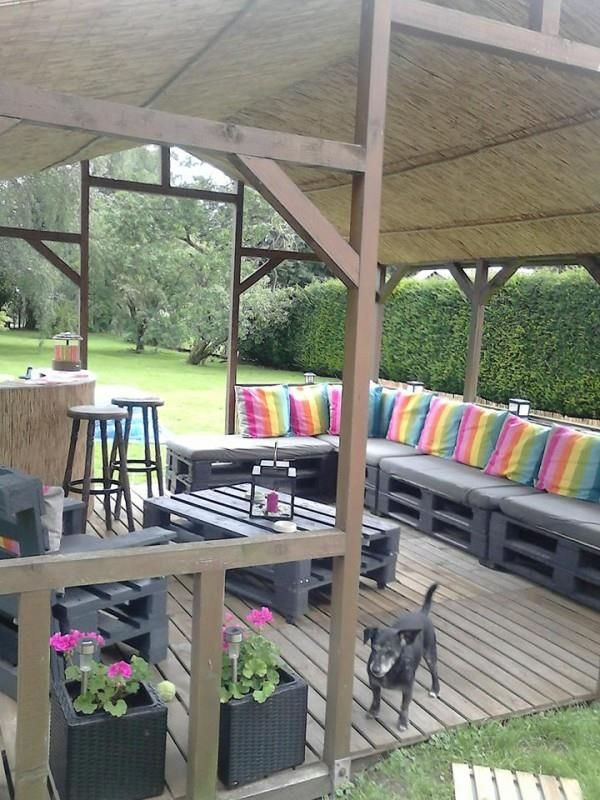 DIY Pallet Terrace Furniture Great craft ideas! Pinterest - terrazas con palets