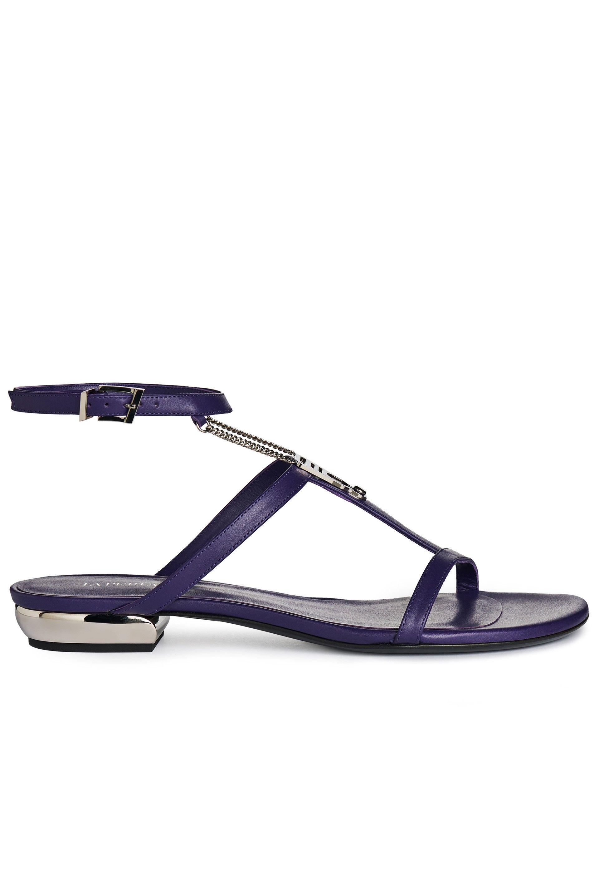 GIUSEPPE ZANOTTI Giuseppe Zanotti Giuseppe Zanotti Bar Strap Flat Sandals Shoes Sandals GIUSEPPE ZANOTTI Fashion