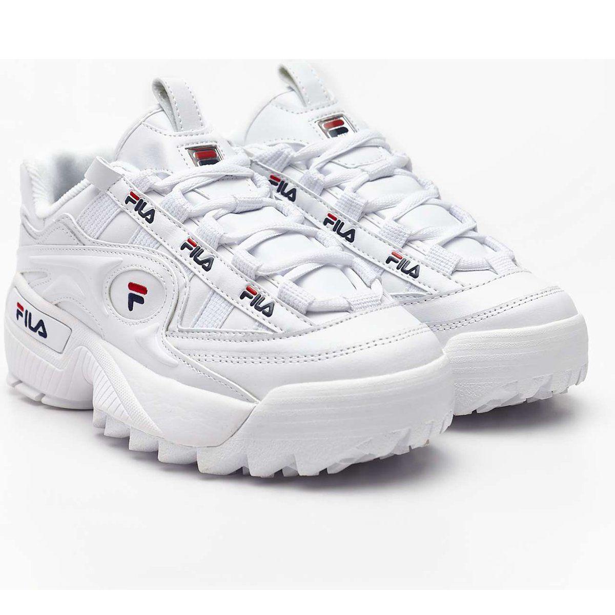 Sportowe Damskie Fila Biale D Formation Wmn 125 White Fila Navy Fila Red Sketchers Sneakers Shoes Navy