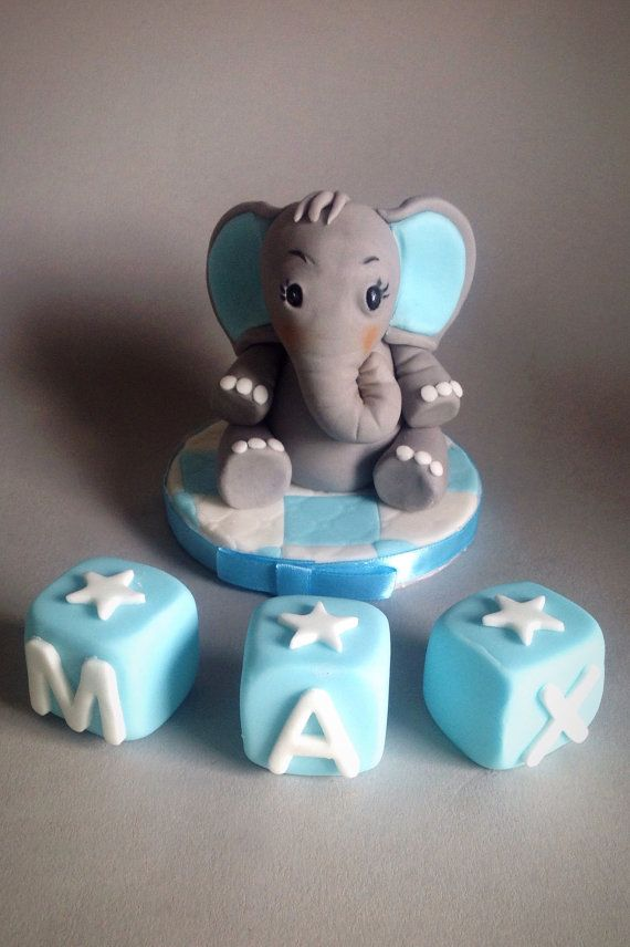 Elephant Cake Topper. Perfect for Baby Shower by BindweedBakery