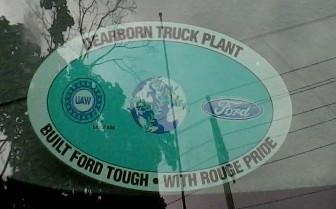 Dearborn Truck Sticker With Rouge Pride Dearborn Built Ford Tough Truck Stickers