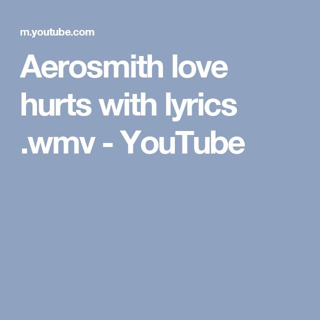 Song love hurts aerosmith