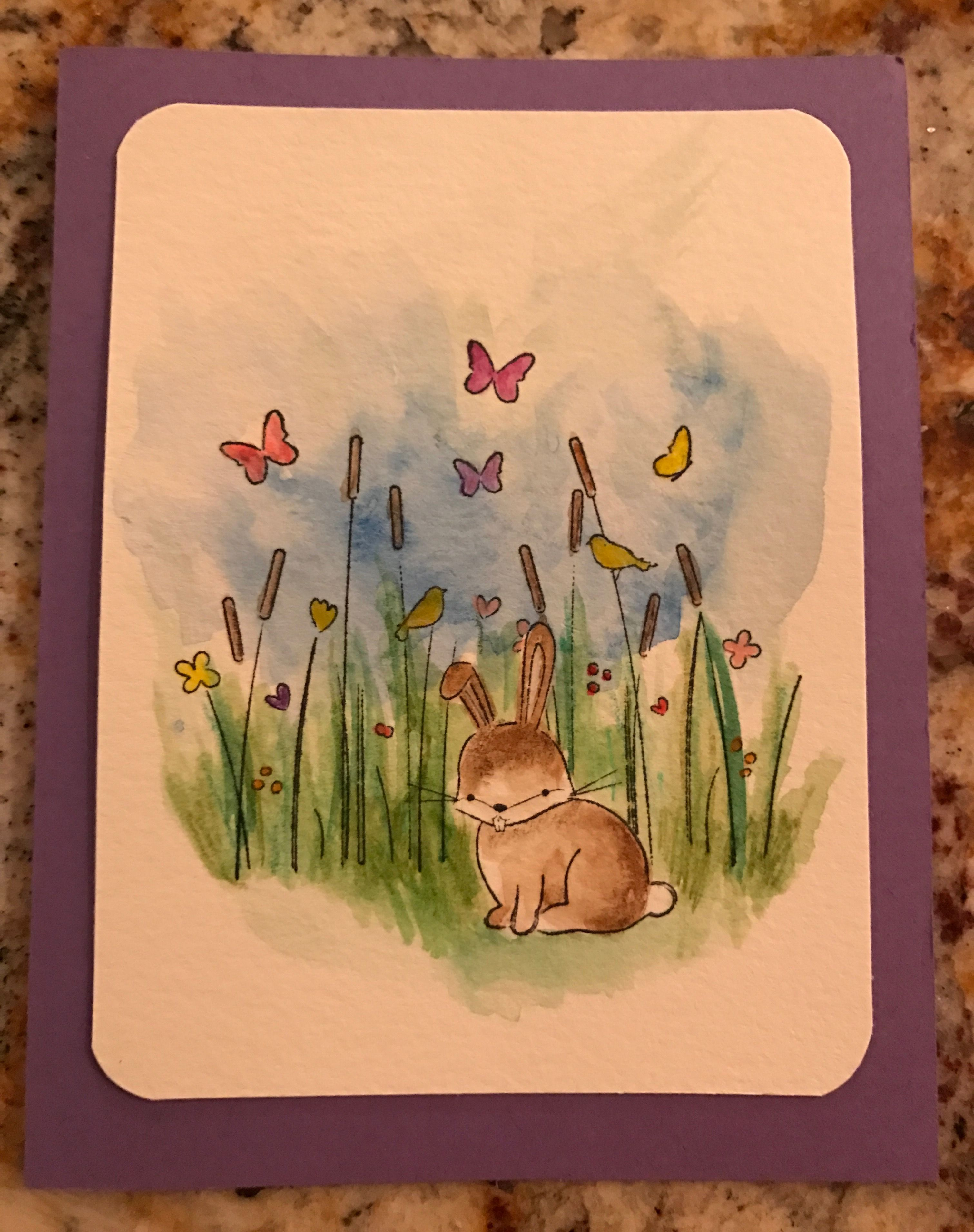 Watercolor Easter Card Memory Box Easter Cards Cards Handmade