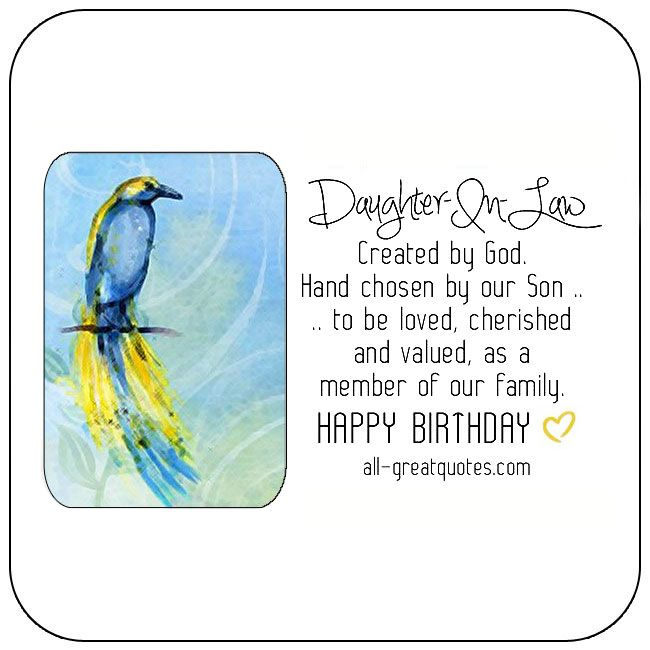 Free Birthday Cards For Daughter In Law Happy Card