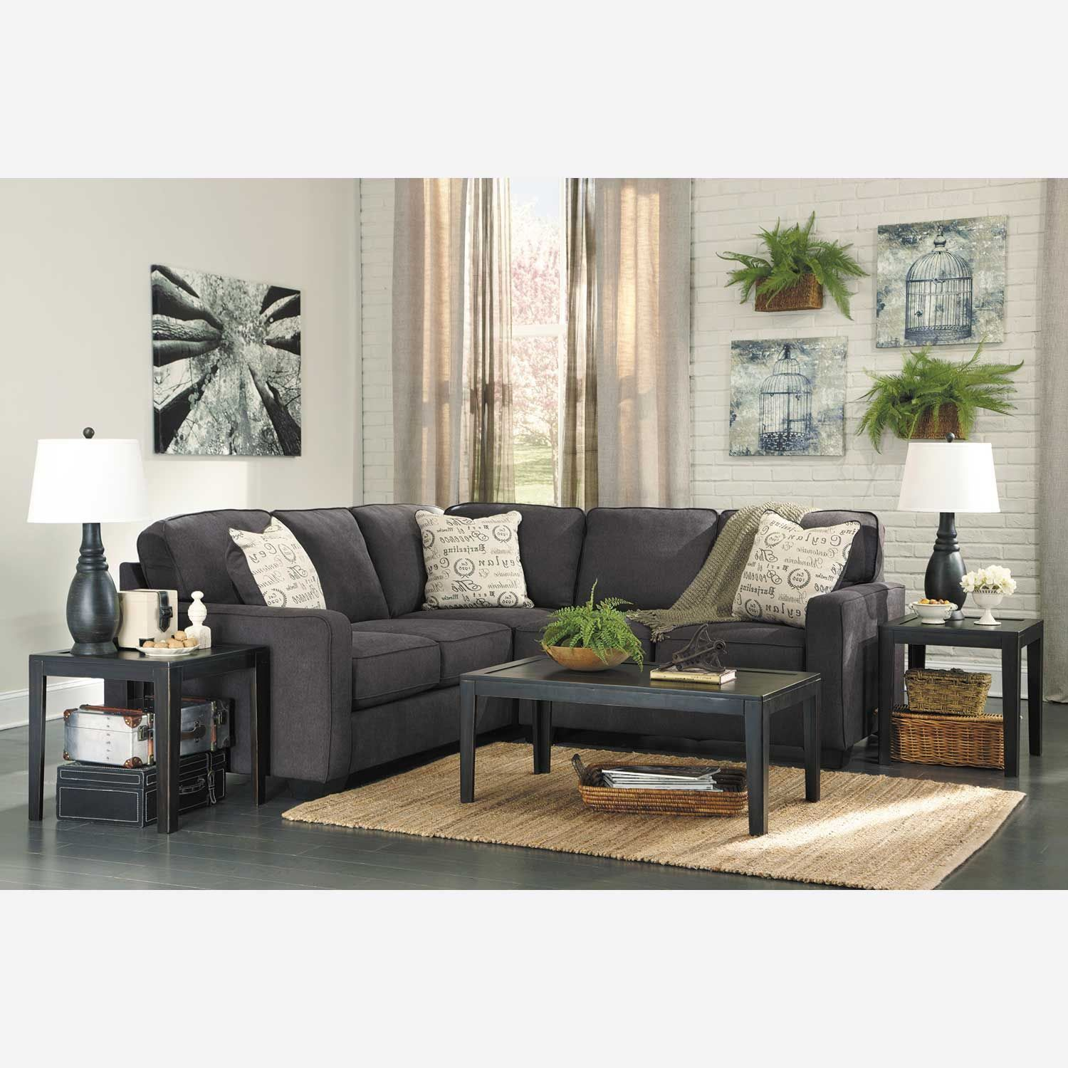 Pc charcoal sectional with laf at american furniture warehouse