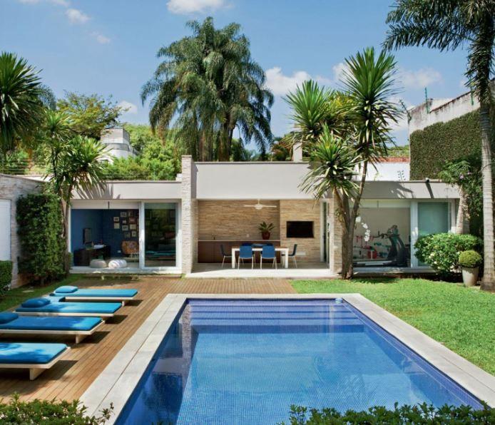 Modelos de quinchos modernos al lado de piletas de for Casas de campo modernas con piscina