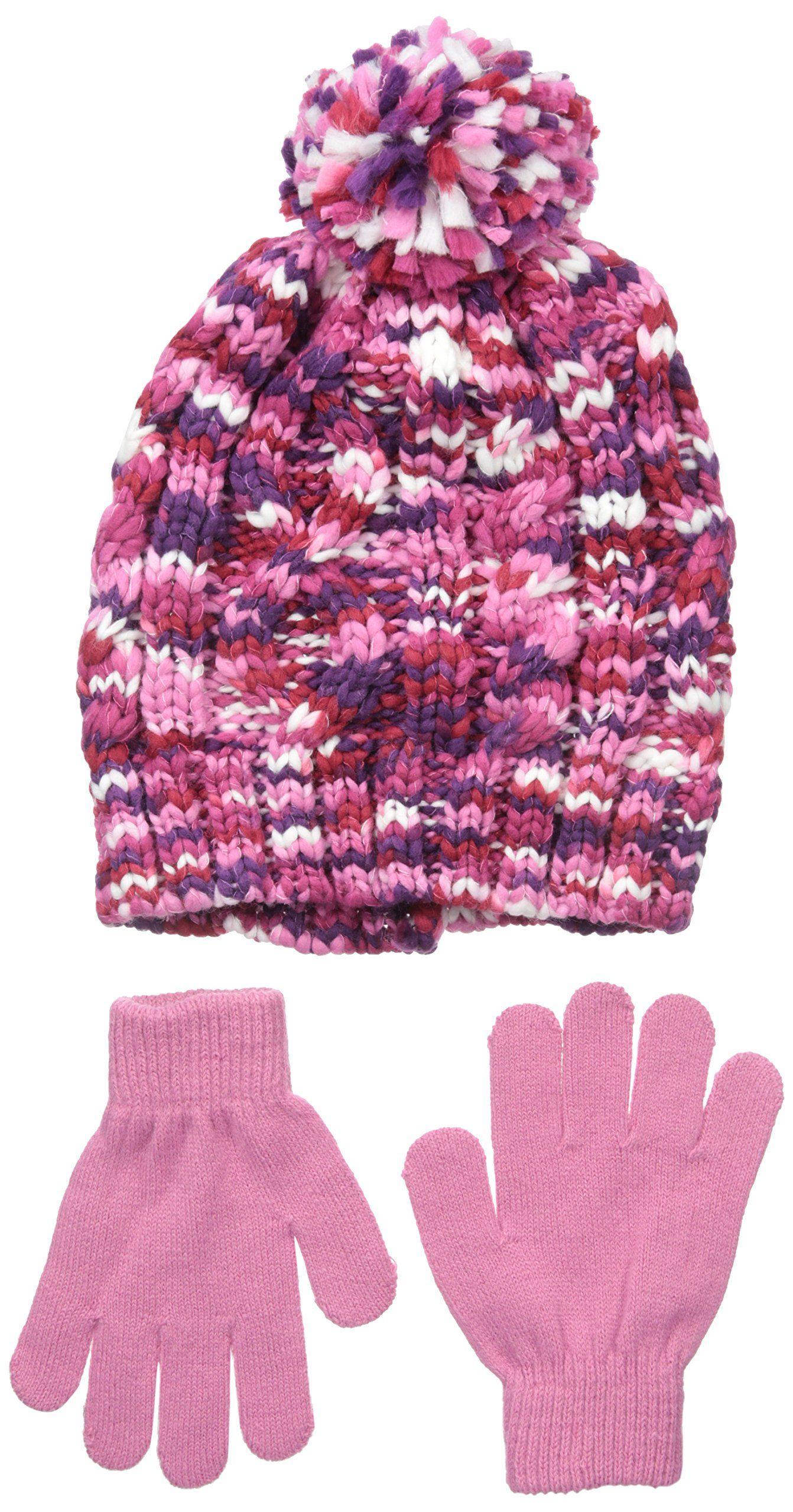 392f6727e0c Nolan Gloves Big Girls  Mckenna Chunky Knit Beanie Set