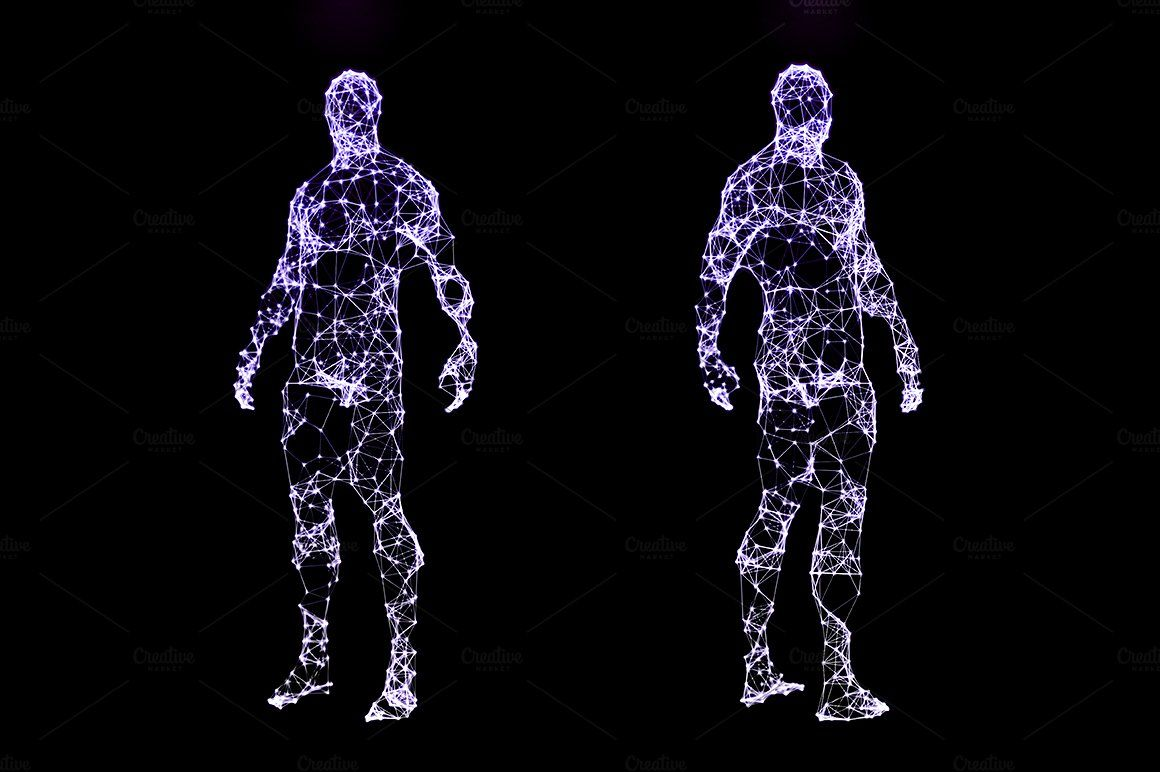 Digital illustration of human body abstractfuturistic