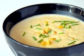 corn chowder. tlc Doubling it served my family of 4 plus fed the kids lunch the next day. I varied it a little. We LOVED it. I used 4 chicken breasts left out the potatoes 4tbls of butter 2 small onion 3 cups of milk 8oz of vegan cream cheese (usually isn't as thick a regular) 6 chicken boullion 1/2 tsp of black pepper 1 tsp of sea salt 1 tsp ...